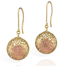 Load image into Gallery viewer, Gold Earrings with Rose Quartz