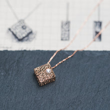 Load image into Gallery viewer, Rose Gold Box Pendant