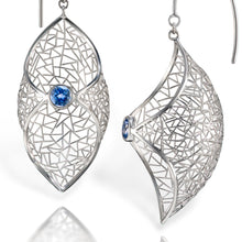 Load image into Gallery viewer, Patel Earrings - Platinum with sapphire
