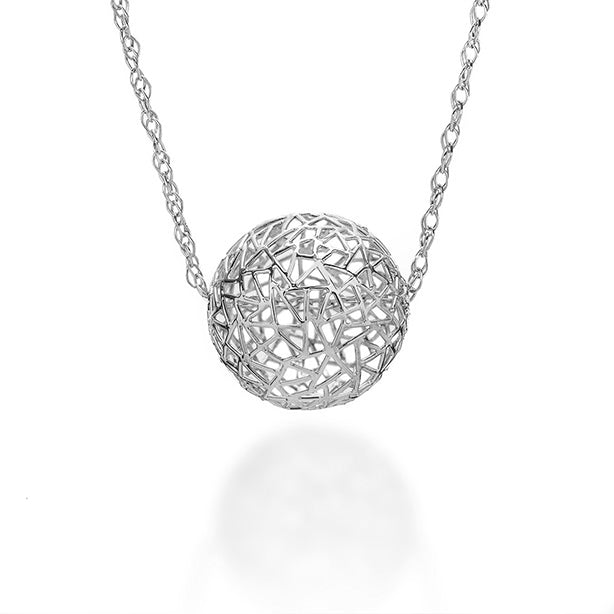 Bubble Necklace in Platinum