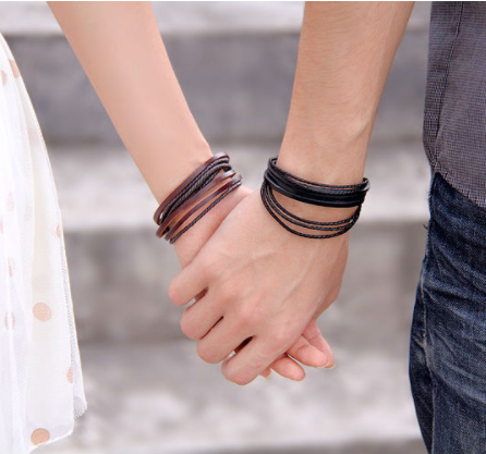 Leather Bracelets-Adjustable Multi-Strand Braided (Unisex) (Includes Power Penny of your Choice)