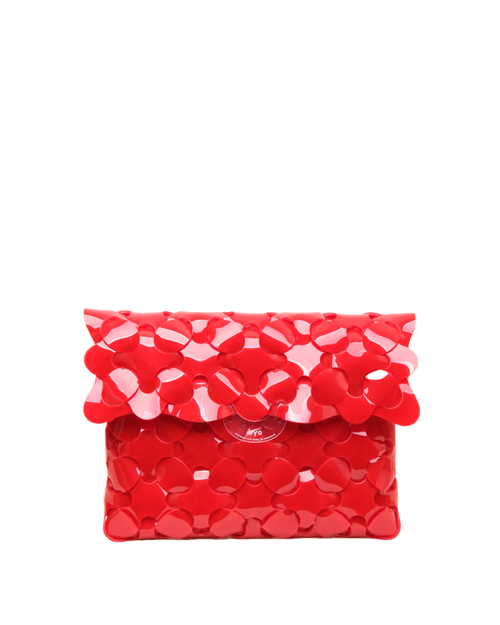 Anatomy Clutch in Hydrant Red