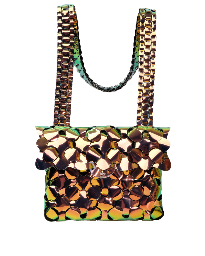 Anatomy Bag in Iridescent Gold