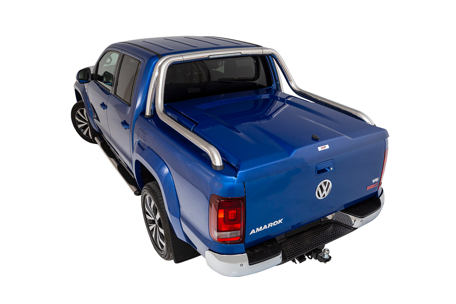 HSP 3PCE Manual SINGLE CENTER Locking Hard Lid – Dual Cab Volkswagen Amarok with Canyon & V6 Ultimate Sports Bars