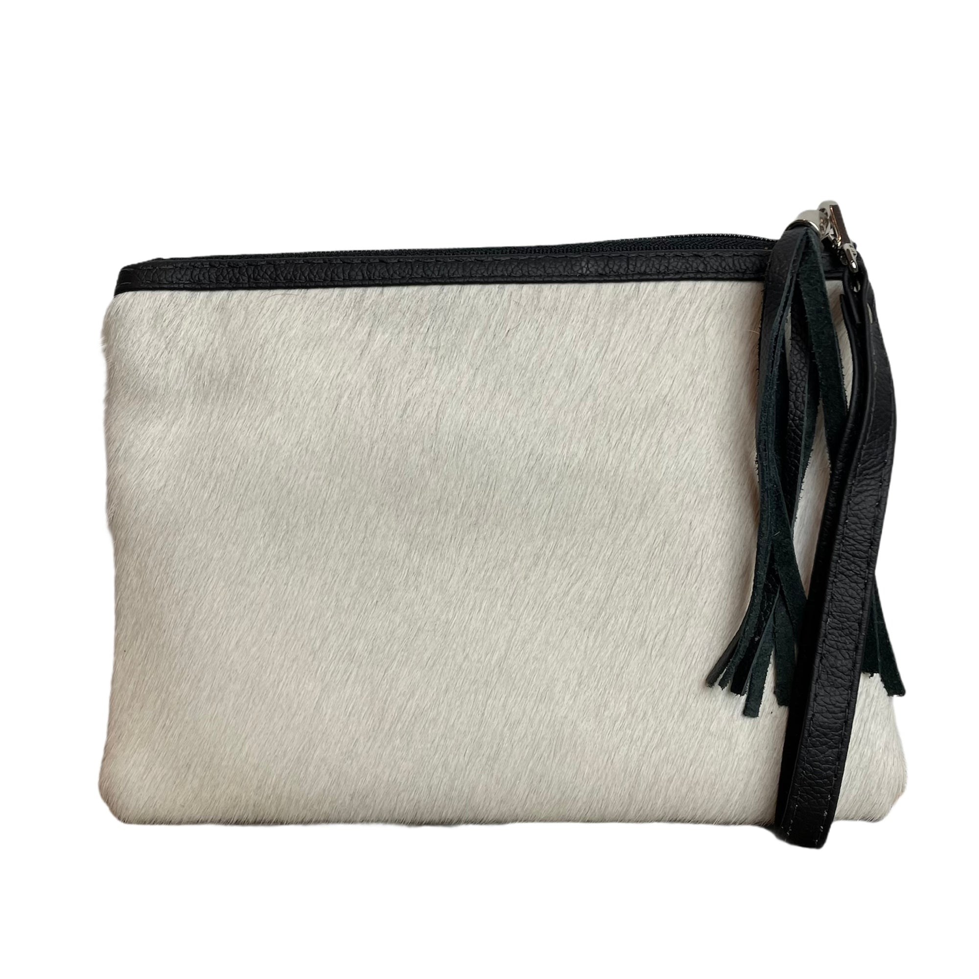 COWHIDE EVERYDAY SMALL CLUTCH - PURE WHITE. Izel Designs