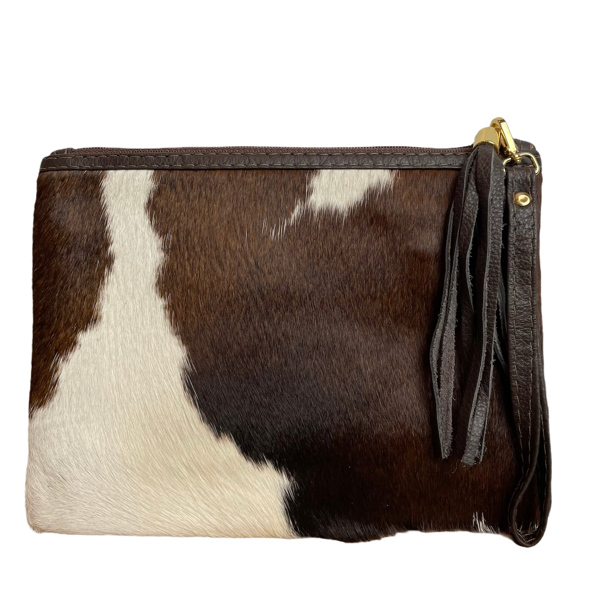 COWHIDE EVERYDAY SMALL CLUTCH - TRICOLOUR. Izel Designs