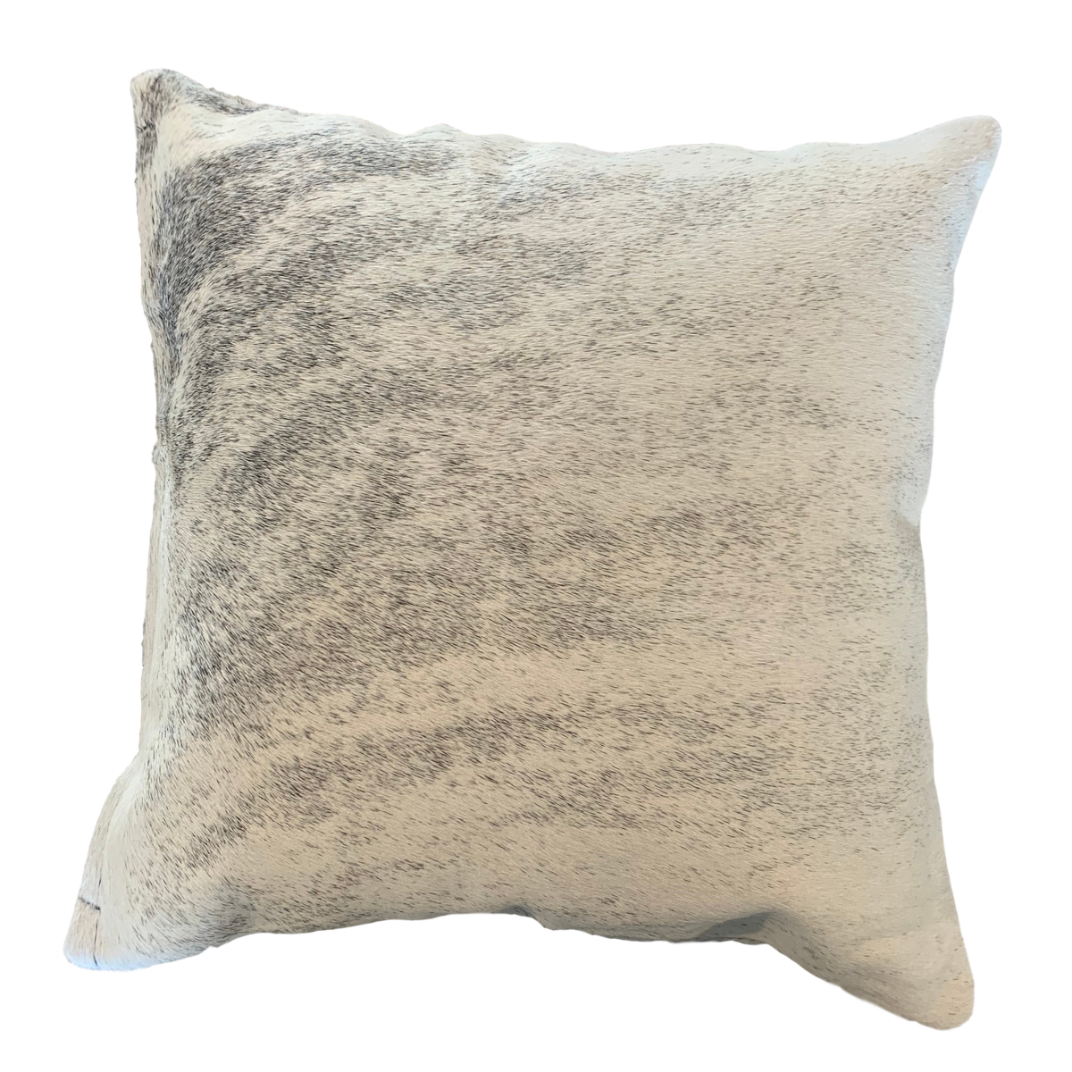 COWHIDE CUSHION | LIGHT GREY BRINDLE - IZEL DESIGNS