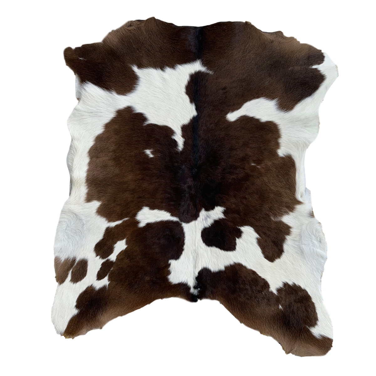 CALF HIDE | CHOC BROWN + WHITE - Izel Designs
