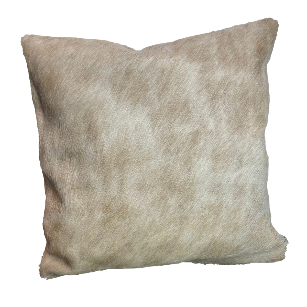 BEIGE COWHIDE CUSHION - IZEL DESIGNS