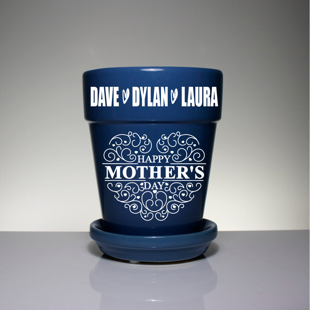 Happy Mothers Day - Personalized Flower Pot