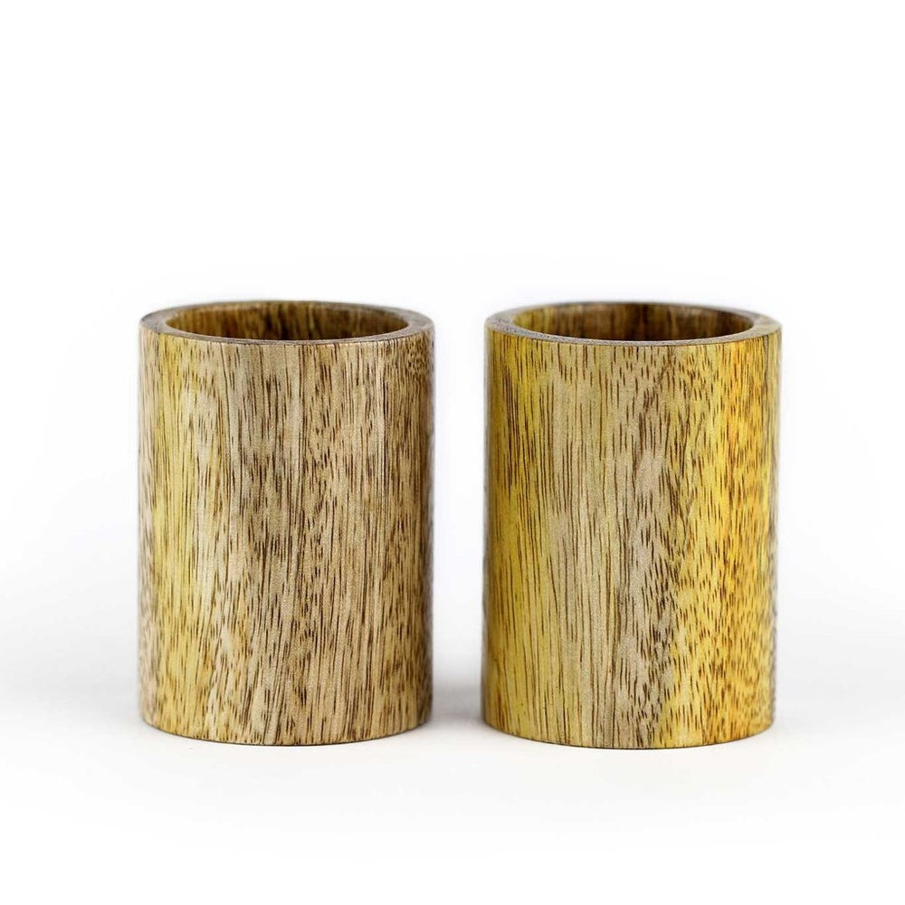 Mango Wood Shot Cups (Set of 2)
