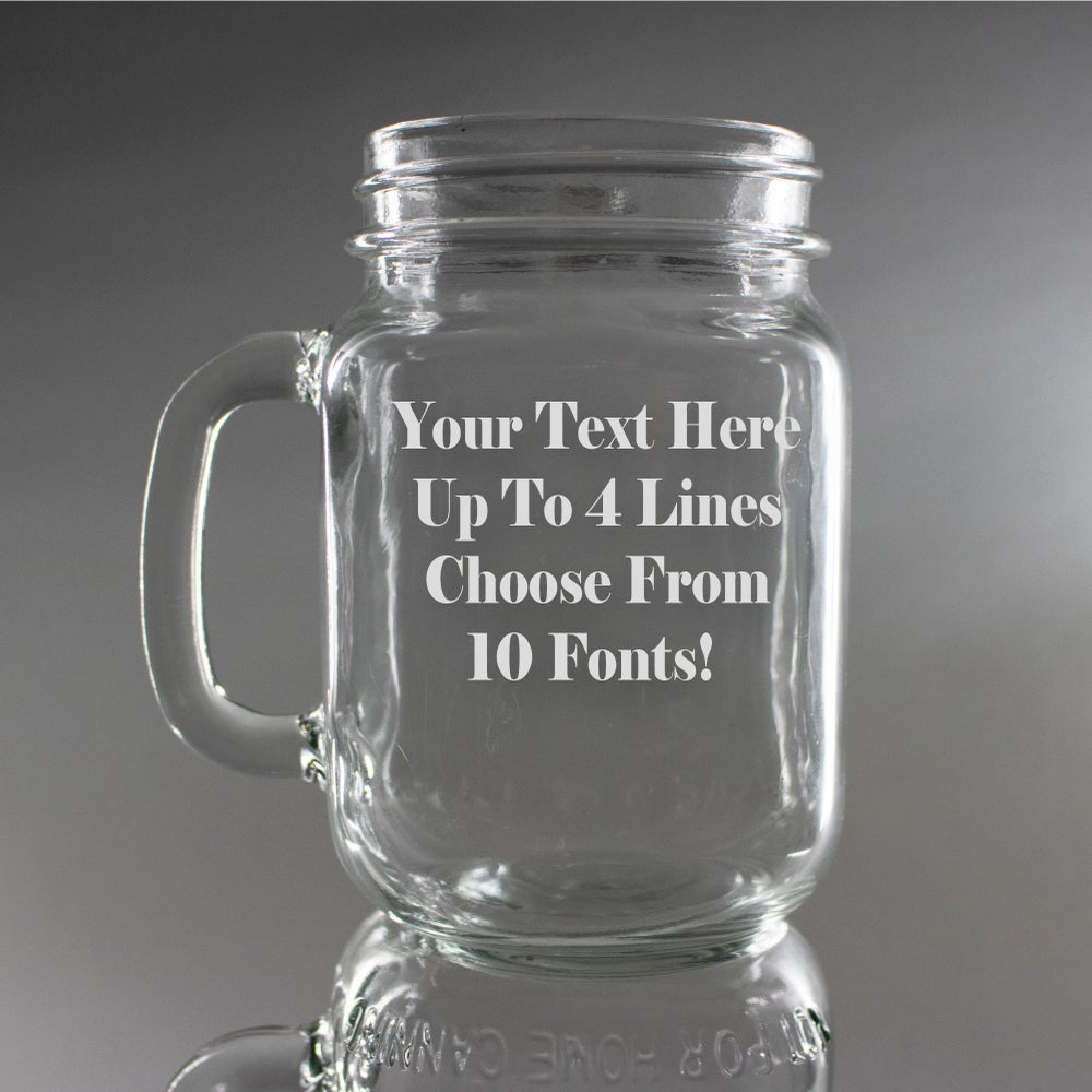 Write Your Own Message Engraved Mason Jar
