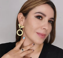 Load image into Gallery viewer, Butterfly Hoops Earrings