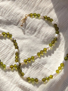 Olive and Pearl Mask to Glasses Chain