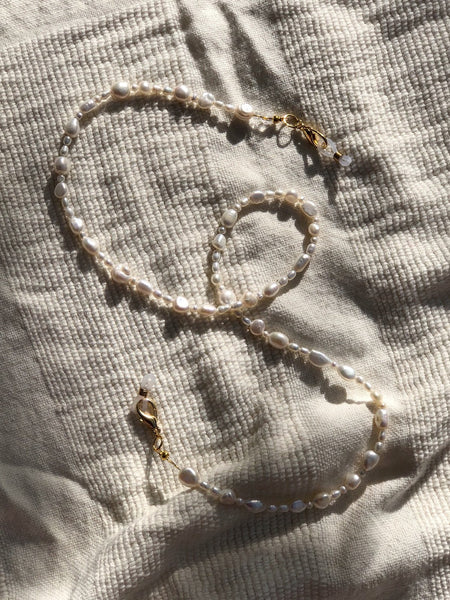 Freshwater Pearl Mask to Glasses Chain