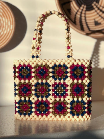 Jewel Toned Granny Square Mist Bag