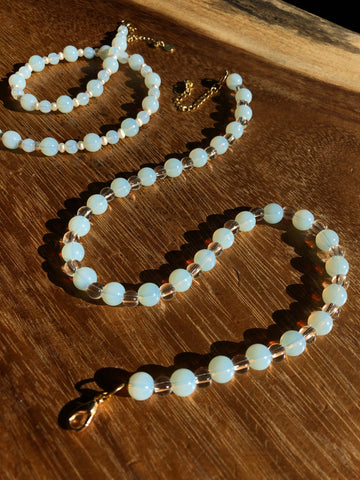 Opalite and Glass Necklace
