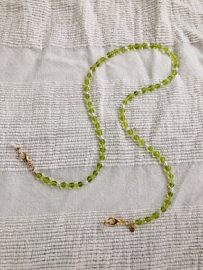 Lime Green with Pearl Mask to Glasses Chain