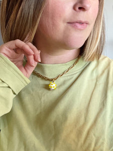 Pearl and Multi Colour Glass Necklace