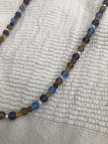 Mixed Glass with Pearl Necklace