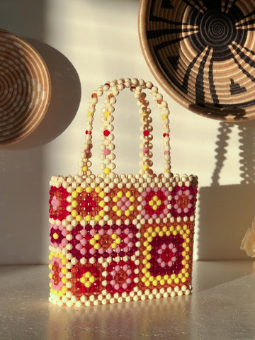 Sunset Granny Square Mist Bag