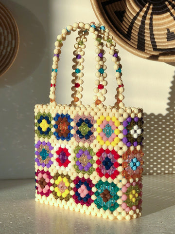 Mixed Colour Granny Square Mist Bag