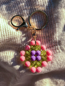 Granny Square Charm/Key Chain