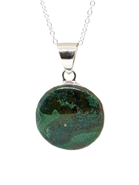 Chrysocolla in Sterling Silver 20