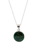 "Chrysocolla in Sterling Silver 20"" Necklace"