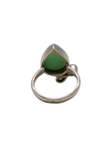 Green Opal Peridot Sterling Silver womens ring Size 6