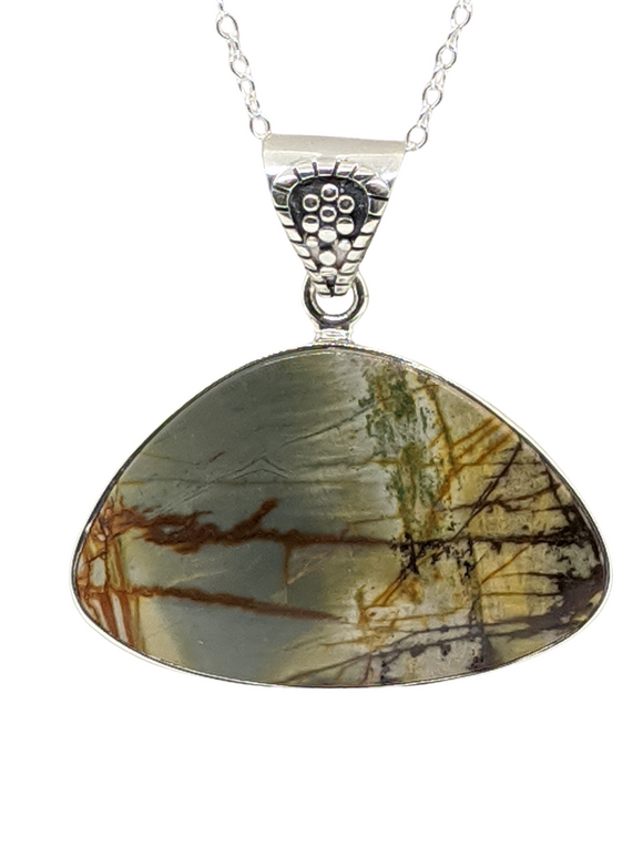 Picasso Jasper in sterling silver 22