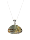 "Picasso Jasper in sterling silver 22"" necklace"