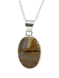 "Picture Jasper in Sterling Silver 20"" necklace"
