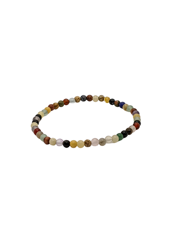 Mixed Agates and Sandstone gemstone bracelet 7