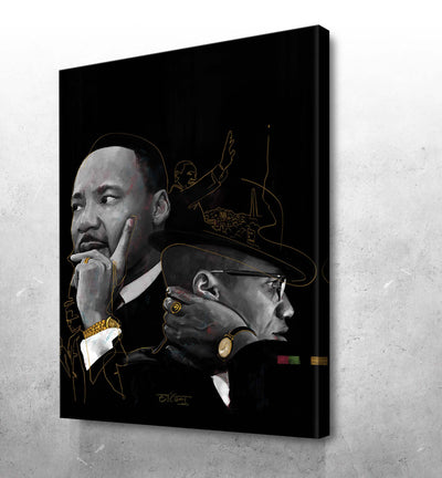 "By Any Dreams Necessary ""MLK & Malcom X - El'Cesart"