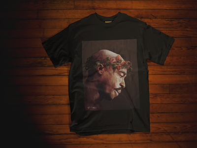 "Tupac ""The Rose that Grew from Concrete"" T-Shirt - El'Cesart"