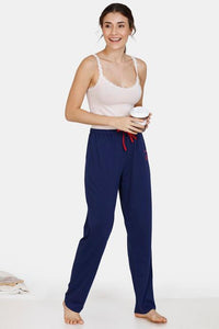 Zivame Sweet Treats Cotton Pyjama - Navy Blue