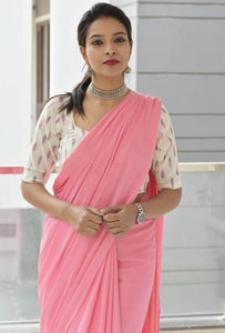 New Look Light Pink  Color Soft Silk Designer Saree
