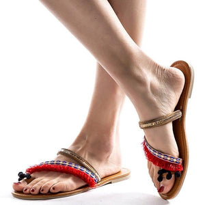 Women Spring Ethnic Roman Style Summer Flat Sandals.