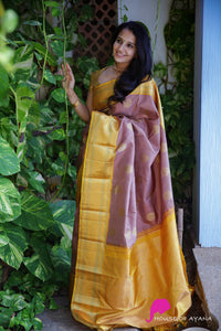 Women Yellow saree with Blows