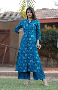 Indian Bollywood Multi-Colored Women's Kurta