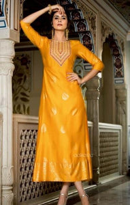 Mustard-color-design-for-kurtis
