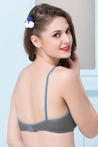 Non-Padded Non-Wired Full Coverage T-Shirt Bra in Navy - Cotton Rich