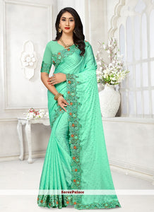 Sea Green Wedding Silk Classic Saree