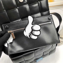Load image into Gallery viewer, luxury handbags Knit Real designer Genuine Leather Shoulder bags for women - Guangzhou Xiaoniu woman handbag factory