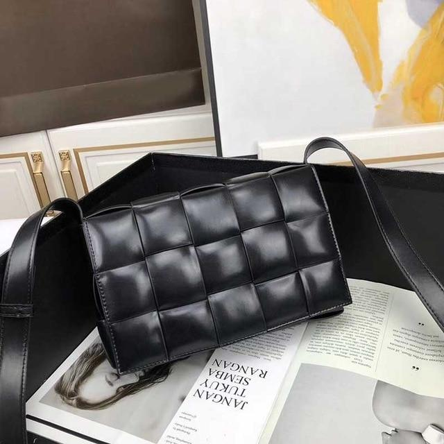 luxury handbags Knit Real designer Genuine Leather Shoulder bags for women - Guangzhou Xiaoniu woman handbag factory