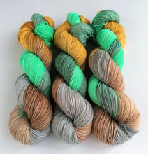 Load image into Gallery viewer, Cuckoo on a Superwash Merino/Nylon sock yarn.