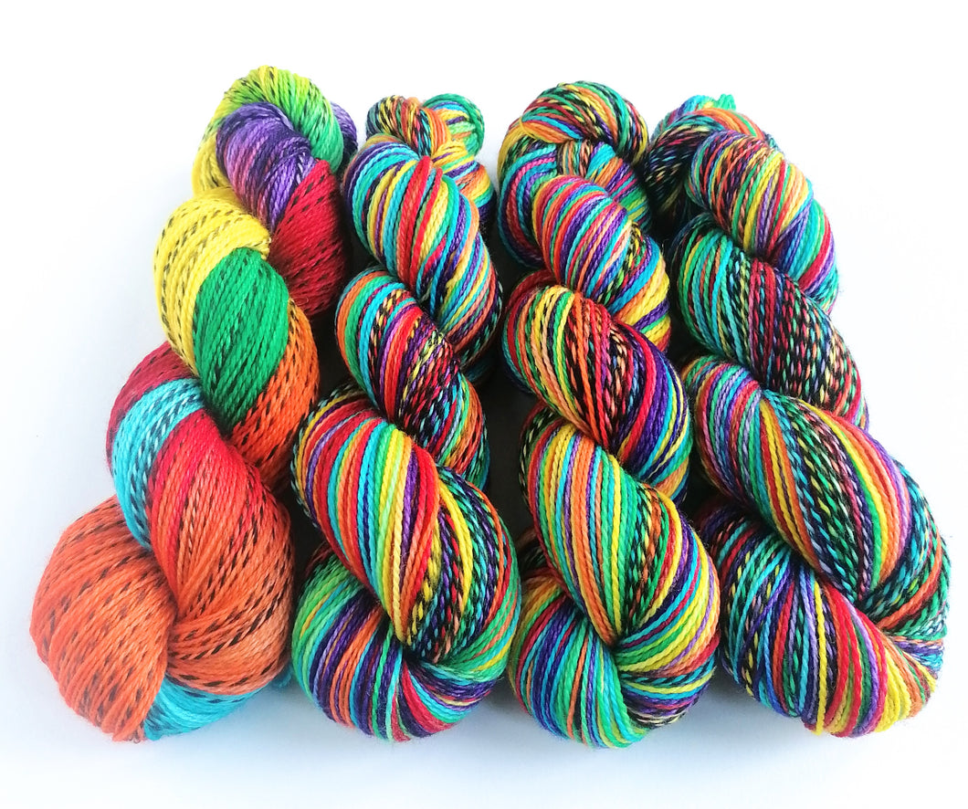 Zebra yarn pre-order - hand dyed yarn - Dyed to Order.