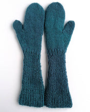 Load image into Gallery viewer, Hand knitted cabled mittens.