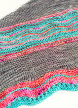 Load image into Gallery viewer, Hand dyed yarn and knitting pattern set - Party Popper Shawl in Superwash Merino/Nylon sock yarn.